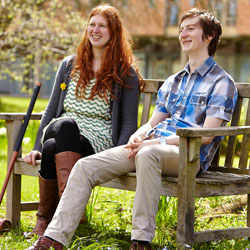 Students in grounds