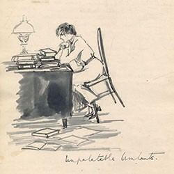 Sketch from alumna Dorothy Hammond's diary