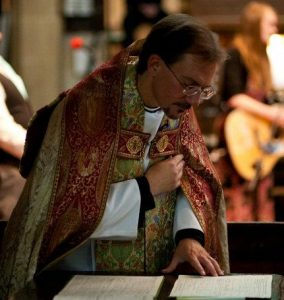 College Chaplain at a Wedding