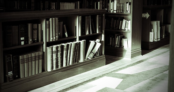 Library books black and white