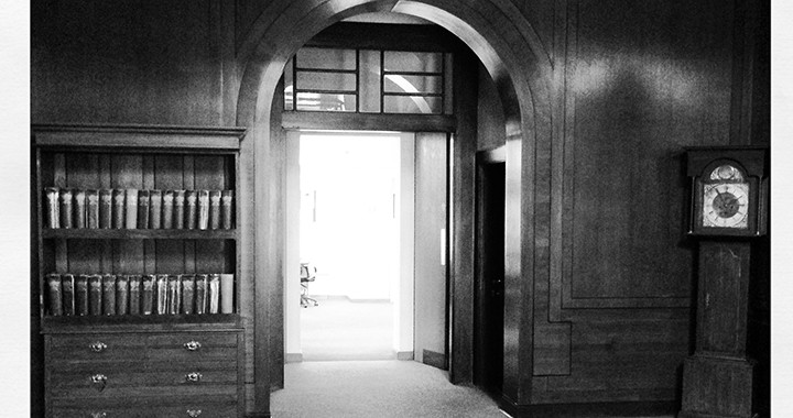 library doorway