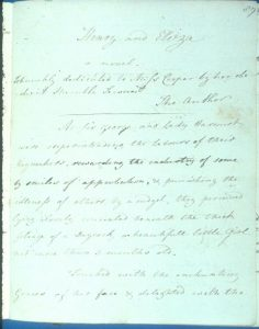 A page written by Jane Austen