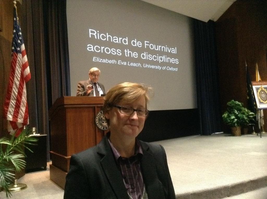 Professor Liz Leach at the annual meeting