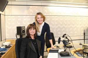 Dame Elish interviewed by Kirsty Young on Desert Island Discs. Image: BBC.