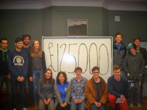 The team marking a successful £125,000. Image: Buffalo Fundraising Consultants