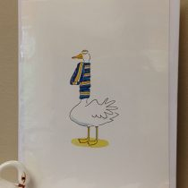Swan in scarf card