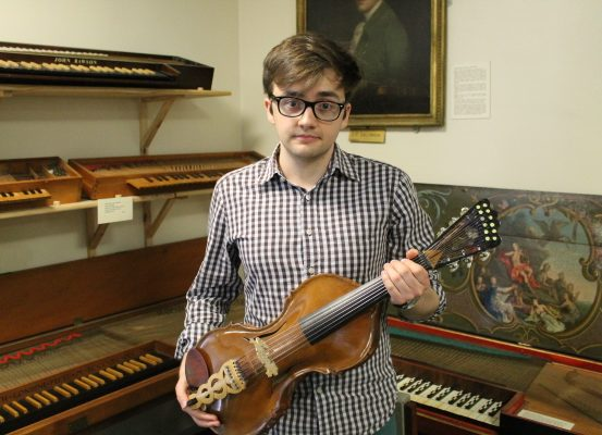 Will Croft - Winner of the Bate Essay Prize with the viola d'amore