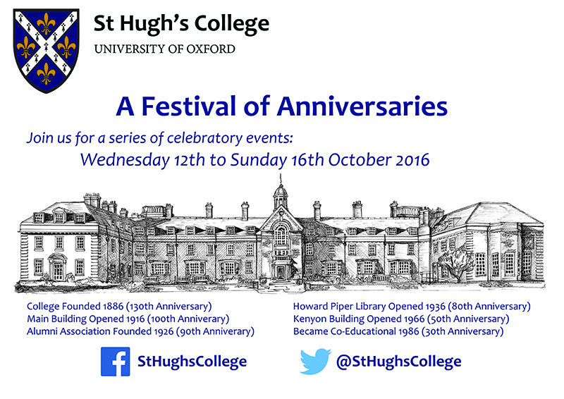 A Festival of Anniversaries - 12th to 16th October 2016