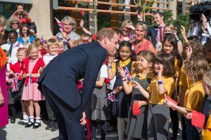 Duke of Cambridge meeting school children