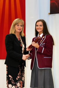 St Ninian's High School's Head Girl, Anna Campbell
