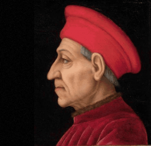 The winning essay was a study of Cosimo de'Medici's power over Florence.