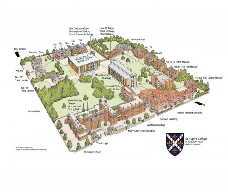 St Hugh's map